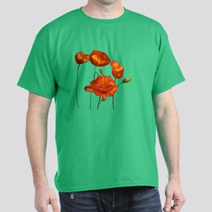 Poppies (orange) Dark T-Shirt